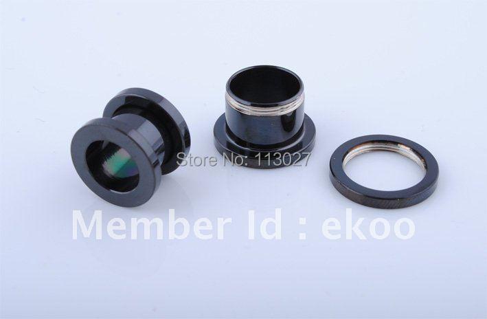 Min order 10 Wholesale Body Piercing 1 2mm 16mm Steel Black Titanium Anodized Flesh Tunnel