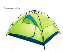 Resist Wind double layer 3-4 people space automatic speed set park camping tent Waterproof fabric Breathable mesh yarn/110806/2