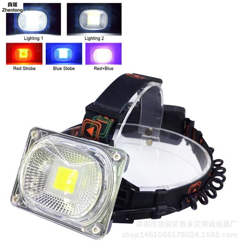COB 20W Rechargeable LED Headlamp LED Lamp Outdoor Camping Flashlight with USB Portable Warning Light Emergency Work Light 18650 led emergency portable waterproof camping light sports usb rechargeable battery lamp flashlight only last one