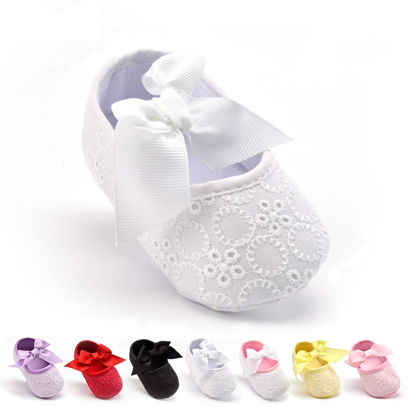 Summer Baby Girls First Walkers Cotton Fabric Baby Shoes Butterfly-knot Flower Toddler Girls Boots Infant Girls Crib Shoes