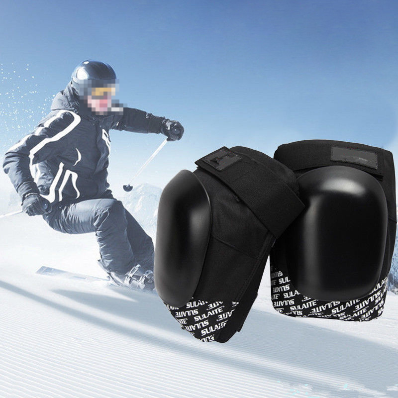 Black/White Motorcycle Knee Protector Scooter Motor Sport Protective Knee Guards Safety Gears Motorbike Knee Pads Equipment