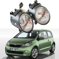 2pcs Auto Car Fog Light Lamb LED Daytime Running Light Headlight External Light For Skoda Citigo