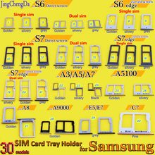 For Samsung S6 S6 edge S7 Single /Dual SIM Card Tray Holder Slot for Samsung Galaxy S7 edge G935F Replacement Part(China)