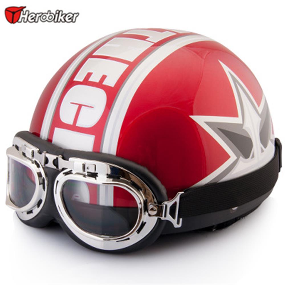 Motorcycle helmet Unisex Vintage Open Face Half Moto boots Motorbike Helmet & Goggles & Visor open face half leather helmet harley moto motorcycle helmet vintage motorcycle motorbike vespa