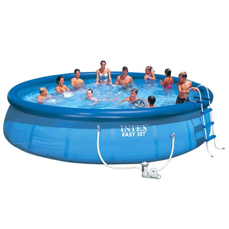 Filet bébé-clip piscine enfants et famille piscine ronde haut anneau gonflable piscine Super épaisse Intex piscine et accessoires