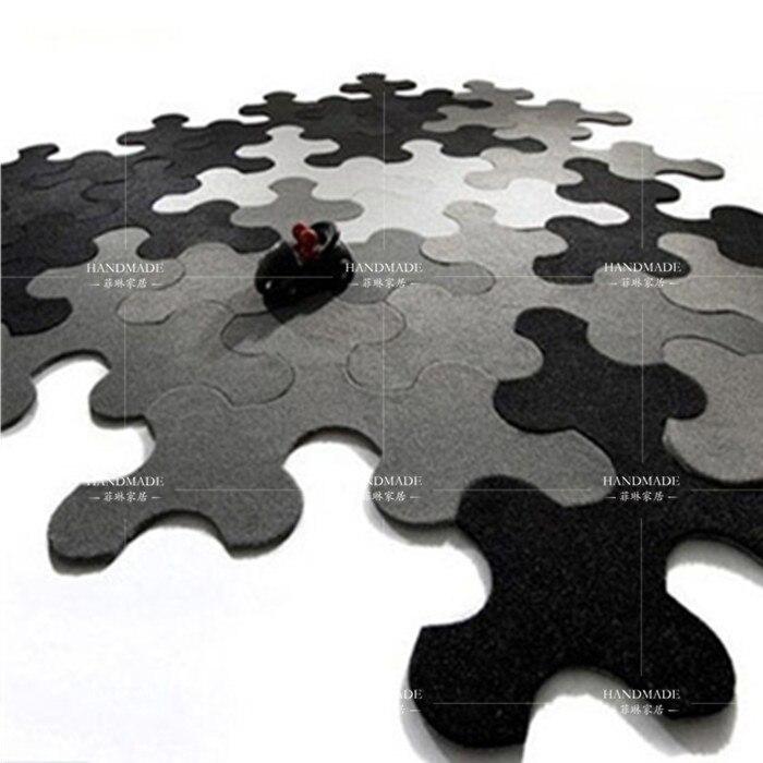 Nouveau chaud 100% acrylique puzzle tapis tapis et tapis pour salon tapis tapis de bain enfant ramper tapis fait à la main