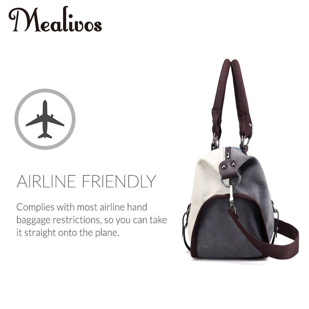 Mealivos 2017 Fashion Black Stripe och Gold Canvas Weekender - Väskor för bagage och resor - Foto 2