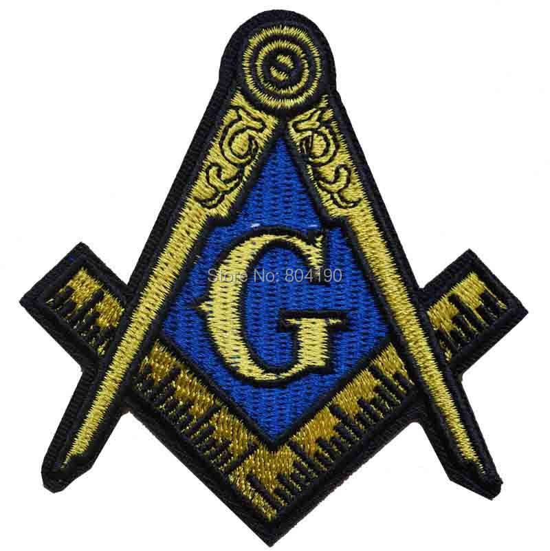 Masonic Logo Biker Vest Iron On Patch Sew On Badge Freemason Square