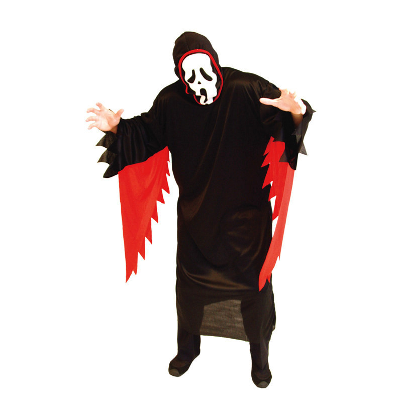 Men Halloween Devil Demon Costumes Evil screaming ghost Cosplay fetish Role play April Fool 's Day tricky Masquerade party dress