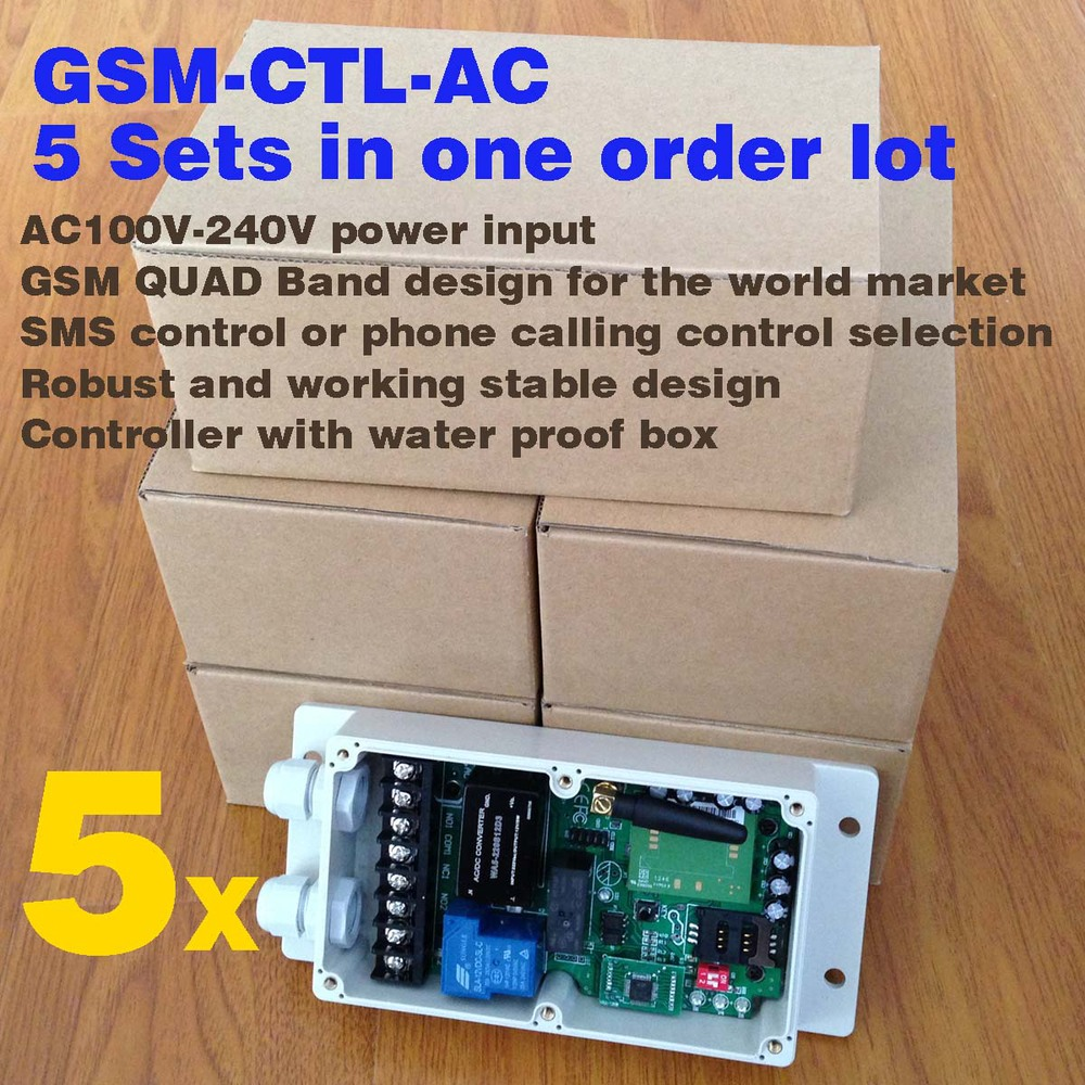 Double channel GSM Remote Control System ( Relay Control ) (5 sets per carton) fast express delivery 2 sets gsm relay