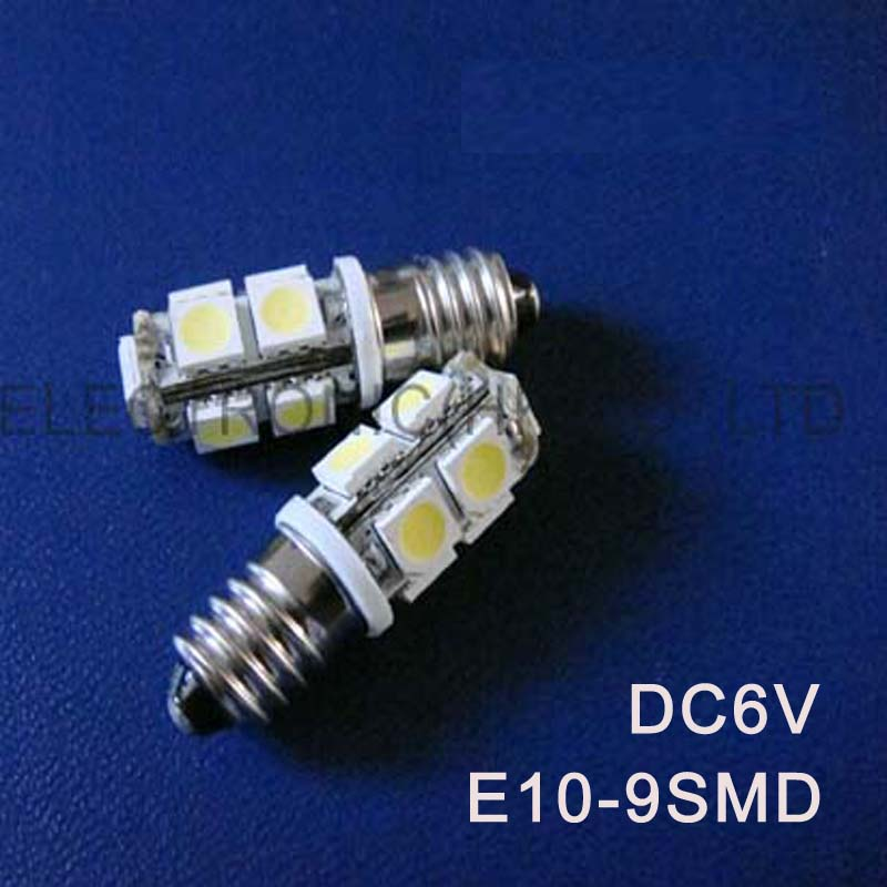 High quality DC6.3V 6V E10 Led Warning Signal,Indicating Lamp,Pilot lamp,Instrument Light,pinballs Bulb free shipping 100pcs/lot image