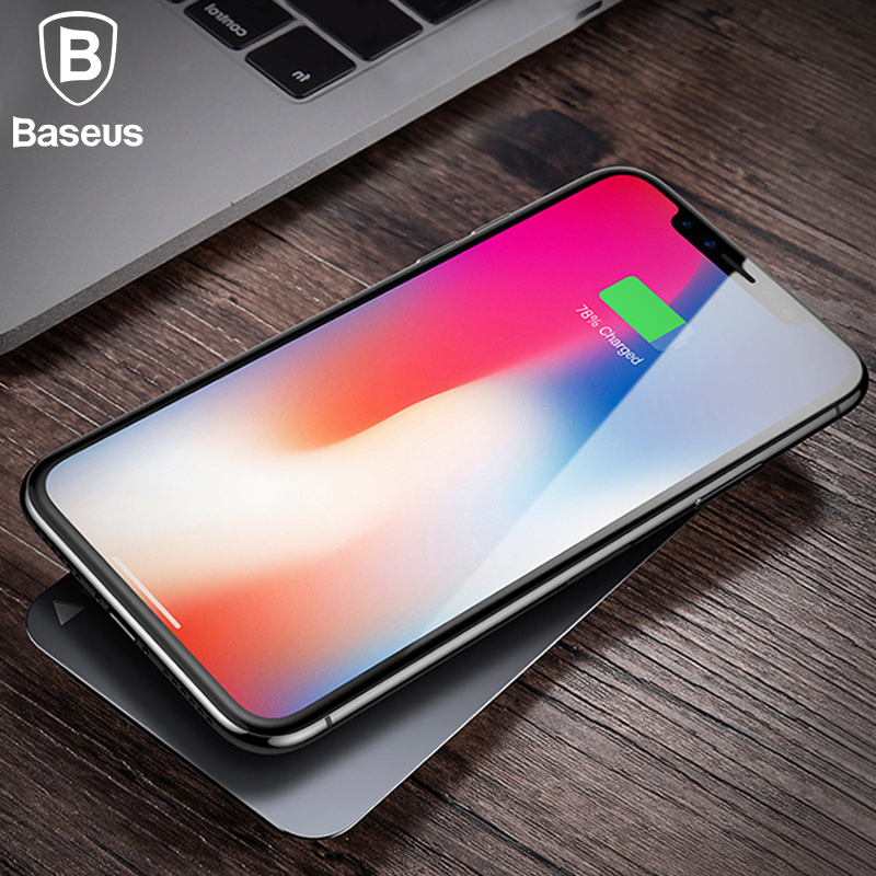 Baseus 10 W Rapido Caricatore Senza Fili Per iPhone X 8 Samsung S8 S9 S9 + Nota 8 Veloce Qi Wireless Sicura Ricarica Desktop Charging Stand