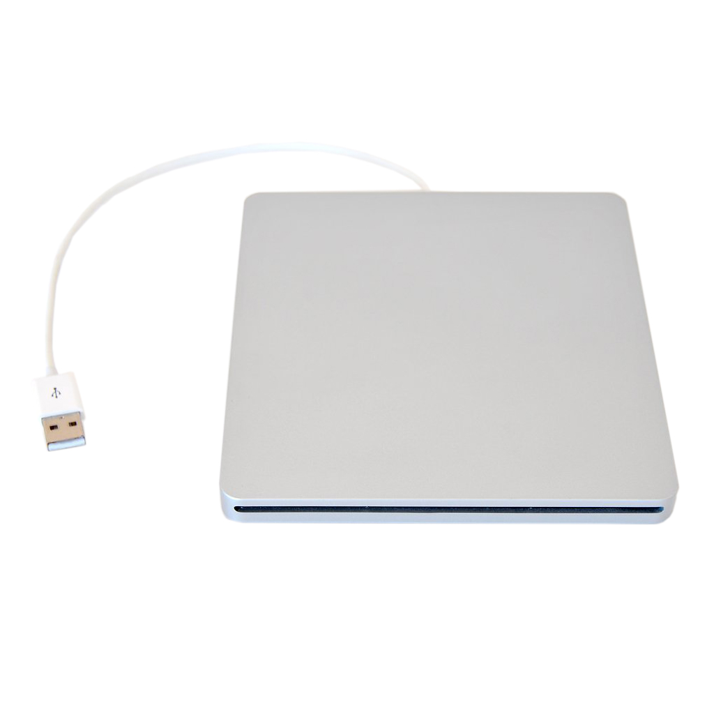 External USB DVD Case for MacBook Pro SATA Hard Disk Drive DVD Super Multi slot has aluminum look Silver