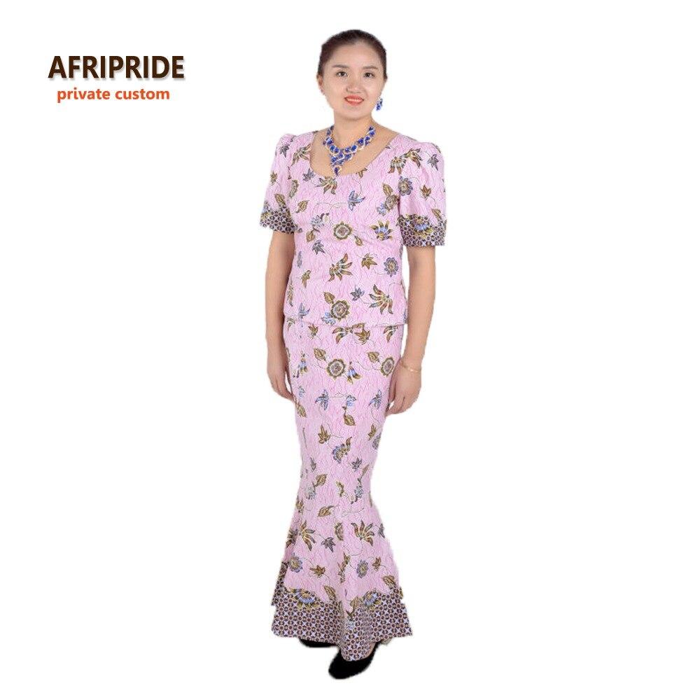 Afrički klasični tradicionalni suknja set za žene AFRIPRIDE kratki - Nacionalna odjeća - Foto 3