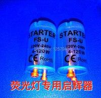 10 шт./лот флуоресцентный трубчатый предохранитель стартер с синим прозрачным корпусом AC220V-240V 4-120 Вт флуоресцентная фара  предохранитель ...