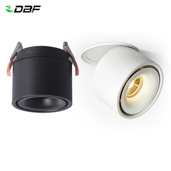 LED Recessed Ceiling Spotlights 3W 7W 10W 15W Ceiling Lamp Indoor Lighting ,Foldable and 360 degree rotatable COB Spot lights artpad modern 7w black ceiling surface mounted light cob led 360 degree rotatable spotlights living room coffee cloth shop led