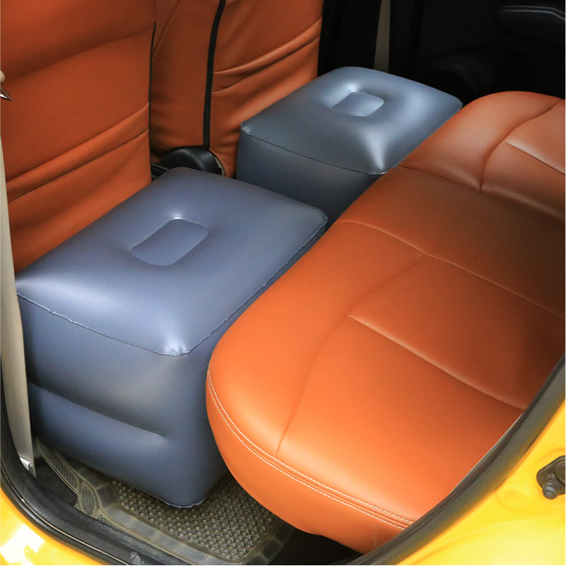 Inflatable stools for on-board inflatable bed backseat space filling inflatable stools