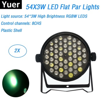 hot 2015 par led 54x3w flat led par can light high power rgbw stage lights with dmx512 master slave dj disco dmx home equipments 2XLot Fast Shipping LED Par 54X3W RGBW 4 Colors LED Flat Par Lights DMX Dj Wash Disco Lights Stage Uplighting KTV Club DJ DMX512