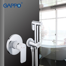 GAPPO Bidet Shower Faucets Brass Bathroom Tap Toilet Clean Hand Shower Spray Bidet Toilet Washer Mixer Rain Shower Cleaner Set цены