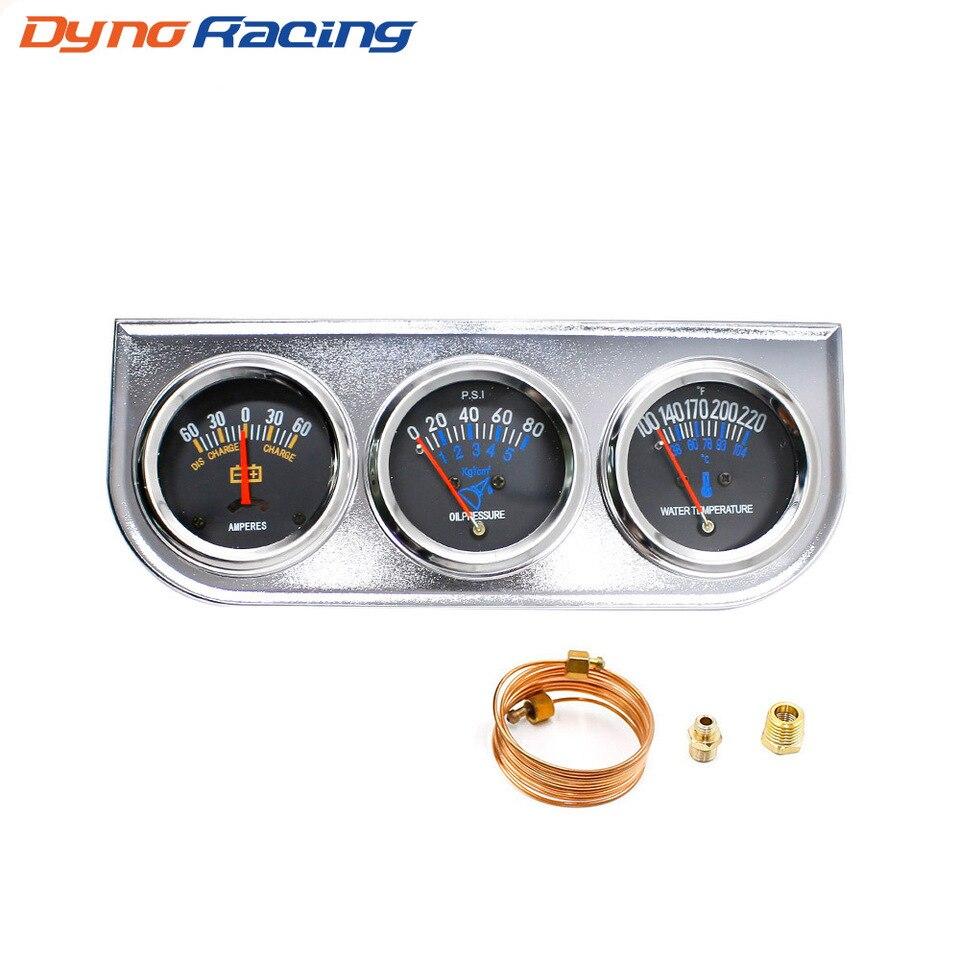 YASE-king 52mm 2  Aceite for Motores Marinos Indicador de presi/ón del Metro del indicador 0-10bar 0-145Psi 12V 24V for el Coche con el contraluz del Barco del Carro