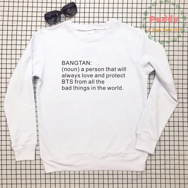 US $13 98 14% OFF|BANGTAN BTS korean KPOP style noun a person autumn winter  full sleeve jumper befree sweatshirts aesthetic pullovers casual cool-in