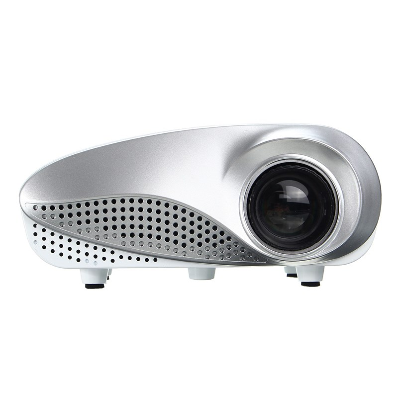 RD 802 Mini Home Multimedia Cinema LED 1080P Projector AV TV VGA USB HDMI SD Trendy Private Theater White rd 802 24w led hd home mini projector w hdmi vga usb remote control blue us plug