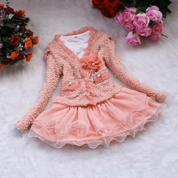 New Arrival Fashion Cute Girls Dress Pink/Beige Princess Tulle Dresses Children Tutu For Girls 20pcs free shipping schottky s30d40c common cathode 30a 40v new original