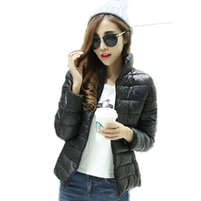 Invierno 2016 New Winter Coat Women Slim Fashion Solid Color Casual Long-sleeve Cotton Parka Plus Size 3xl Mujer Jacket