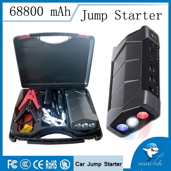 Longue Durée de vie Compact Mini Urgence Batterie De Voiture Saut Démarreur 68800 mAh Chargeur Booster avec SOS lampe de poche