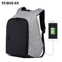 TUGUAN 2017 Fashion Men S Waterproof Anti Theft Large Capacity Backpacks Multi Function Travel Business