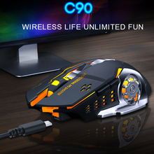 цена Ergonomics 2.4G Gaming Mouse Wireless Mause For Gamer Mice 6 Keys 1600Dpi USB Wireless Mouse For Desktop PC Gaming Dropshipping онлайн в 2017 году