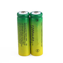 14500 1200mAh 3.7V Li-ion Rechargeable Batteries AA Battery Lithium Cell for Led Flashlight Headlamps Toys Top Head(China)