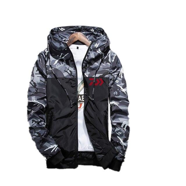 New Autumn Daiwa Fishing Jacket Sunscreen Coat Thin Models Outdoor Climbing Jacket Anti UV Breathable Daiwa Fishing Clothes