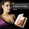Оригинальный бренд 3 Цветов Палитры Макияжа Бровей Порошок Палитра С Зеркалом Бровей Кисти макияж косметический набор kit