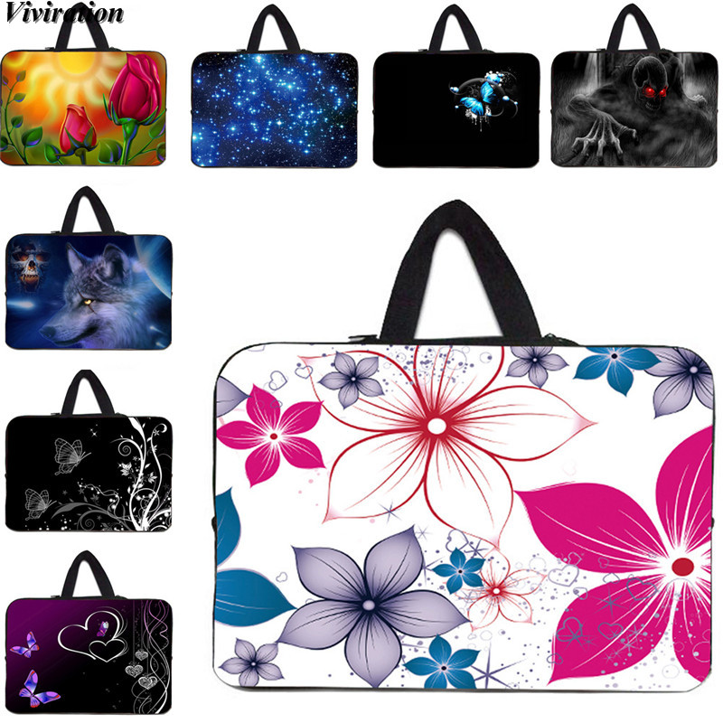 Latest Carry Notebook 14 Inch Cover Case Viviration Women Girls Handbag Computer Laptop Bag 10 12 13 15 17 Inch Sleeve Bolsas
