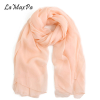 LaMaxPa 100% Silk Shawl For Women All Seasons Nature Silk Scarf Femme Echarpe en soie Mujer Bufanda Lady Silk Pashmina Plus Size