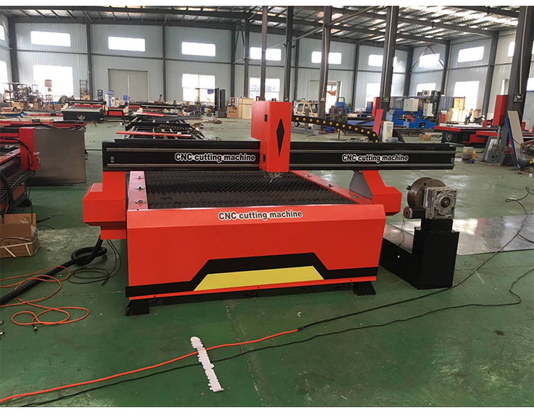 Plasma CNC Cutting Machine 4th Axis CNC Plasma Cutter with Rotary Device 4