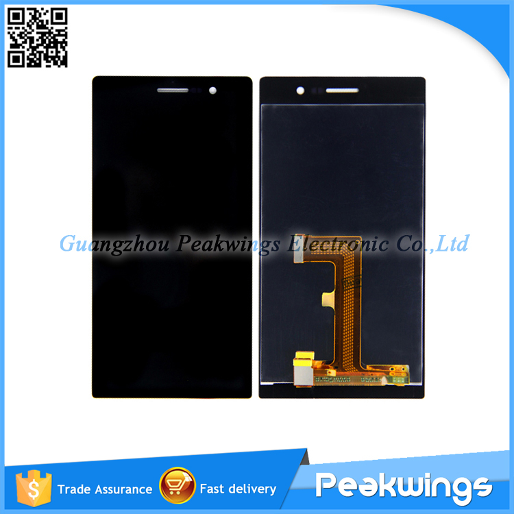 Black&White For Huawei Ascend P7 Touch Screen LCD Display Assembly With Tracking