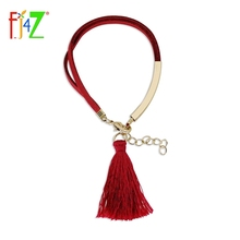 Clearance sales Tassel Bracelets Fashion Designer Deer Velvet Leather chain Fringes Charm