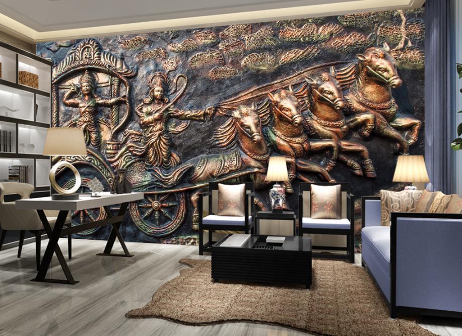 Customize Wallpaper for walls 3 d India Mahabharata Photo ...