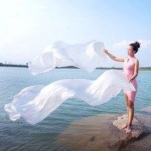 נשים ריקוד בעבודת יד 100% משי אוהד 150/180 cm ארוך בטן ריקוד אביזרי על שלב