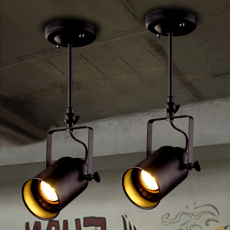 Track lamp LED spotlight clothing store LED spotlight bright wall ceiling lamp retro restaurant spotlight industrial guide lamps dhl free shipping 20pc led spotlight 35w e27 par30 warm pure white led track light clothing store shopping mall hotel wall lamps