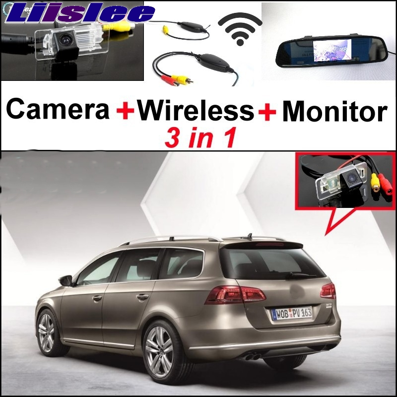 Liislee For Volkswagen VW Passat B7 Wagon Special Rear View Camera + Wireless Receiver + Mirror Monitor Back Up Parking System volkswagen passat б у дешево