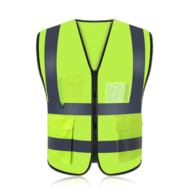все цены на Unisex High Visibility Reflective Multi Pocket Vest Working Clothes Motorcycle Cycling Sport Outdoor Reflective Safety Clothing онлайн