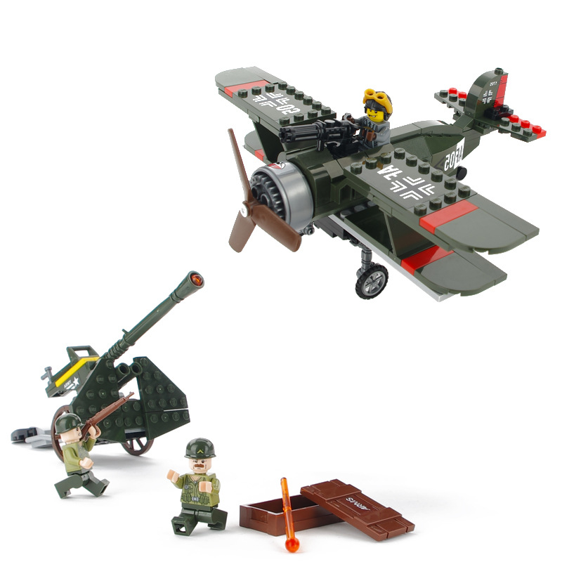 Warplane MILITARY Air Force Fighter World War Model Soldier SWAT Air Plane Army Car Building Blocks Figure Toy Children Boy Gift