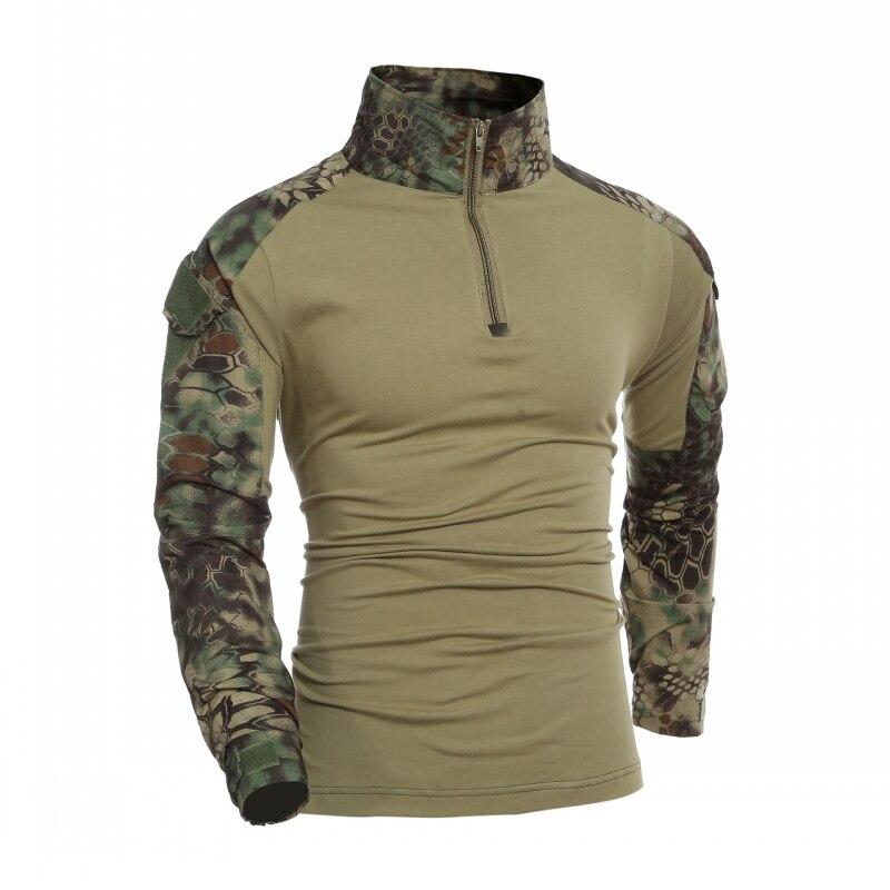 Kryptek Мандраг камуфляж Тактическая Военная футболка с длинным рукавом для мужчин армейская Униформа Рубашки страйкбол армейская охотничья