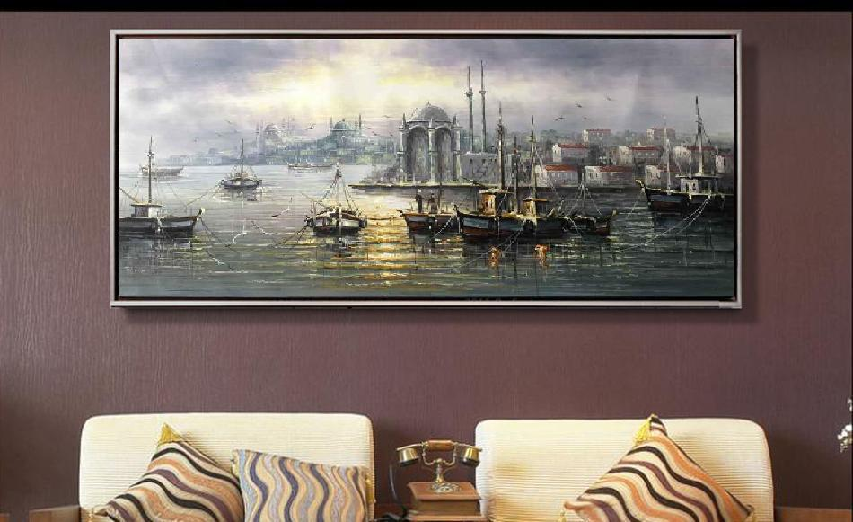 Pure hand made decorative oil painting Italy Venice San Marco Water ...