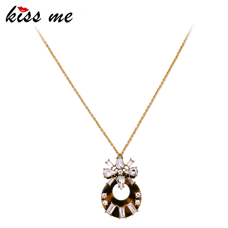 KISS ME Brand Necklace for Women New Design Long Sweater Chain Pendant Necklace Fashion  ...