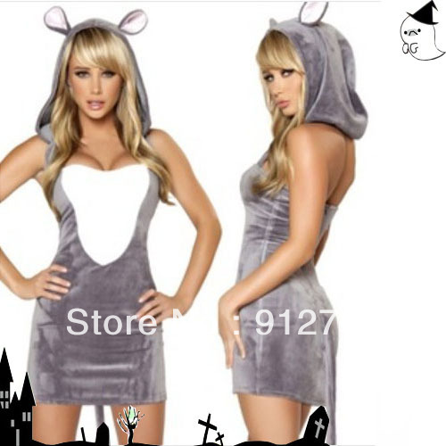 one piece conjoined clothing sexy adorable mouse lady cartoon clothing role playing cat girl halloween