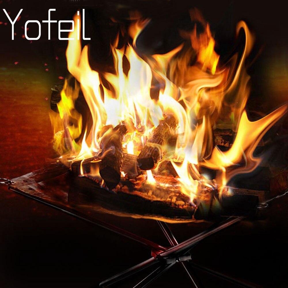 acampamento ao ar livre de aco inoxidavel fogao a lenha dobravel fogao aquecimento carbono rack fogo